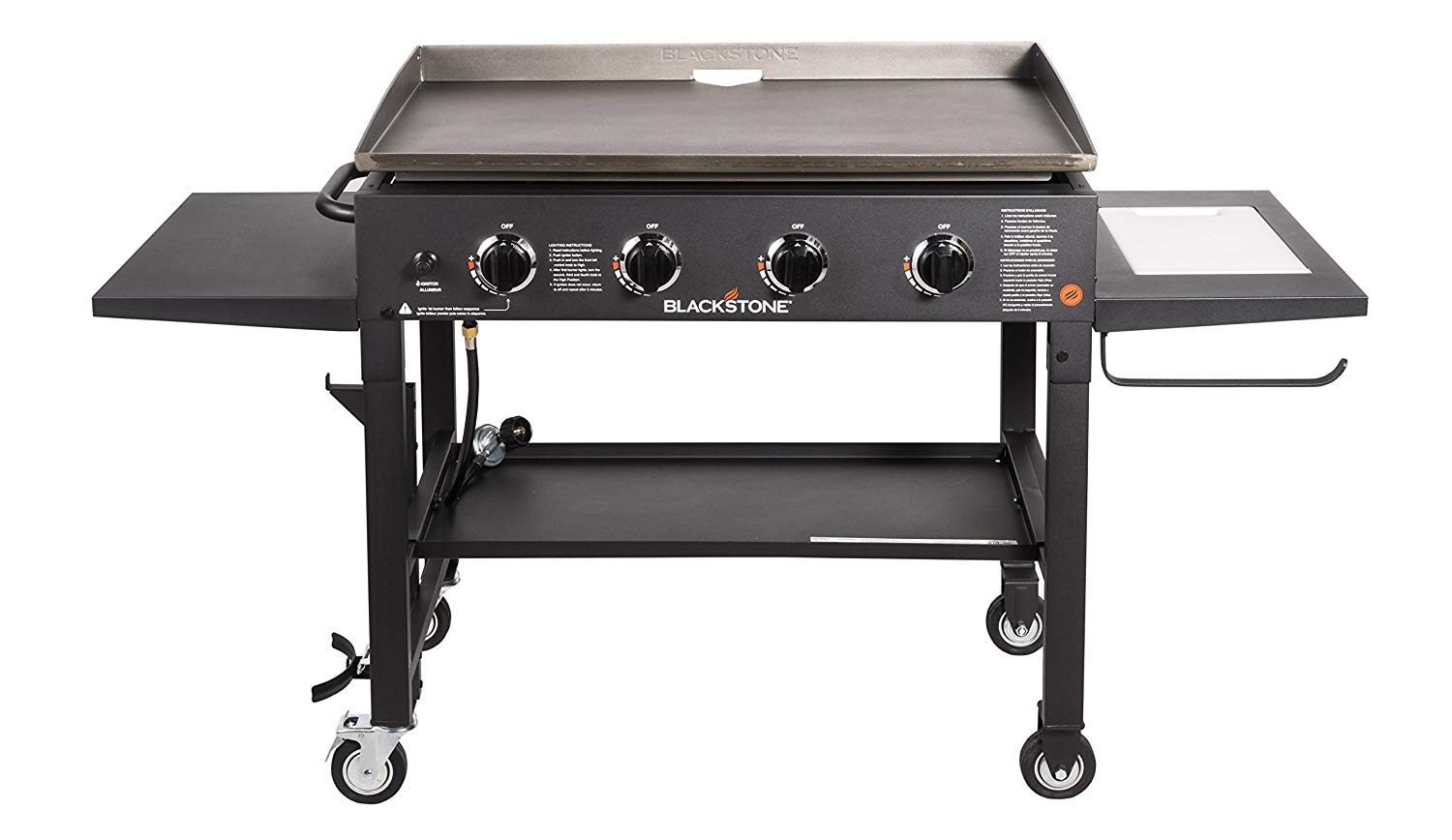 Blackstone 36 inch Outdoor Flat Top Gas Grill Griddle Station - 4-burner - Propane Fueled