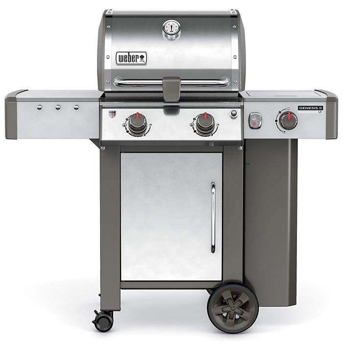 Weber-Stephen Products 60004001 Genesis II LX S-240 Liquid Propane Grill, Stainless Ste, Two-Burner, Steel