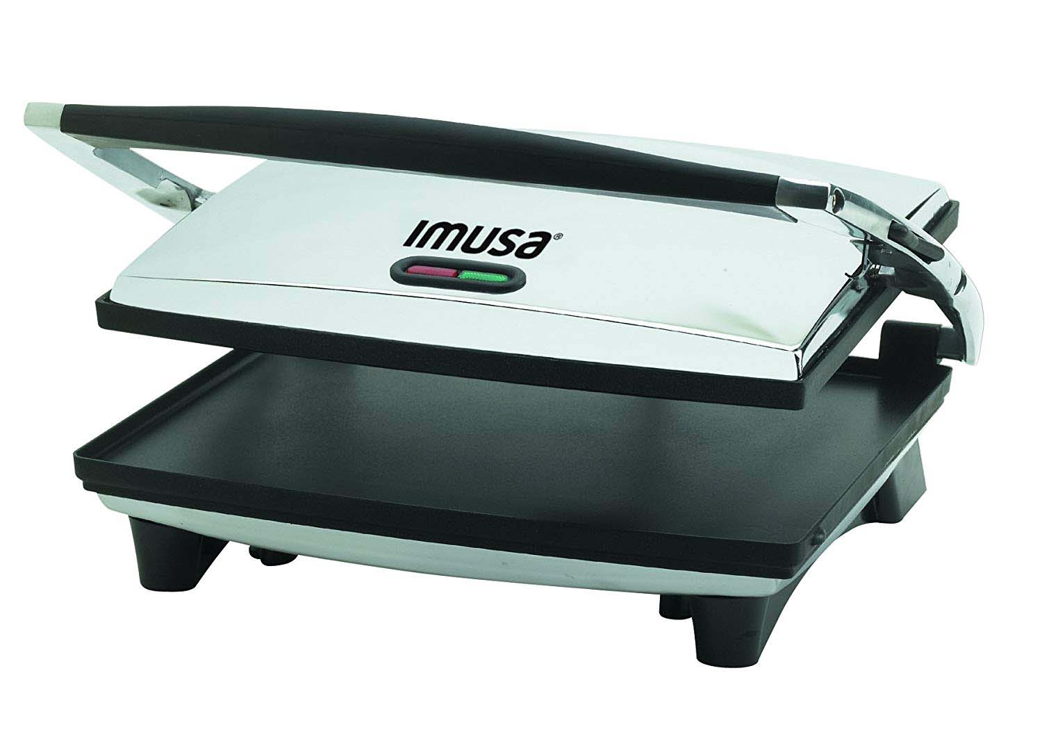 IMUSA USA GAU-80102 Large Electric Panini Press 1400-Watts